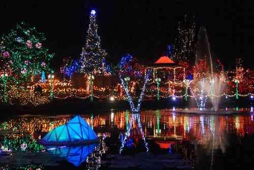 Christmas lights at vandusen botanical garden vancouver - Garden of lights botanical gardens ...