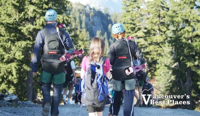 Walking To Grouse Mountain Zipline