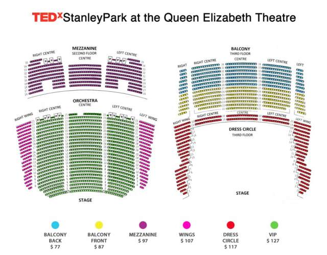 queen elizabeth theatre seating map tedx vancouver 39 s. Black Bedroom Furniture Sets. Home Design Ideas