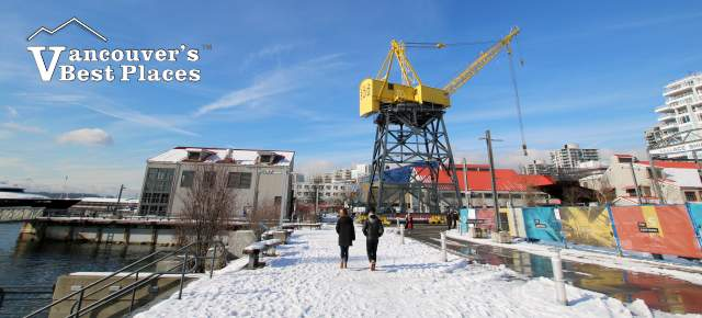 Vancouver Christmas Snow.North Vancouver Shipyards In Snow Vancouver S Best Places