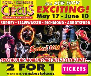 Vancouver's Best Places Circus Promo Code