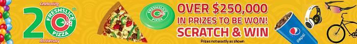 FreshSlice Pizza 20th Anniversary Banner Ad