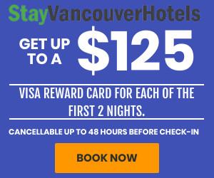 StayVancouverHotels $125 Visa Promotion